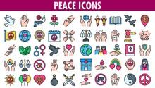 Peace Icons Set.