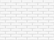Ceramic Brick Tile Wall. Vector Illustration. Eps 10