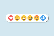 Set Of Yellow Emoticons For Design. Vector Illustration