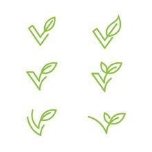 Vegan Element Vector Icon Design Illustration