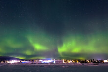 Northern Lights In Jukkasjärvi, Northern Sweden