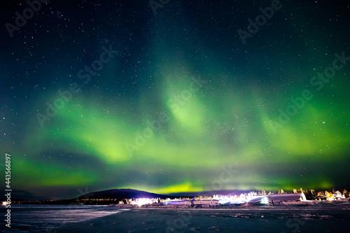 Canvas Northern Lights in Jukkasjärvi, northern Sweden