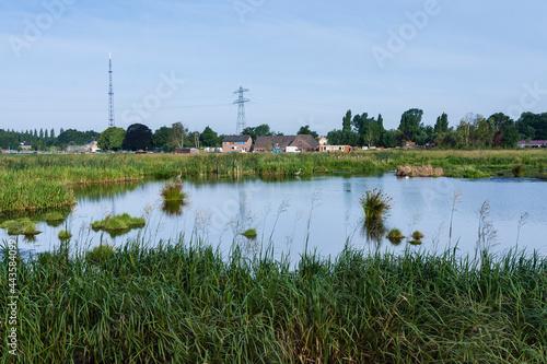 Obraz na plátně Landscape at Poelgeest polder
