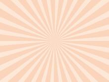 放射状の背景素材、イラスト(オレンジ色バージョン)