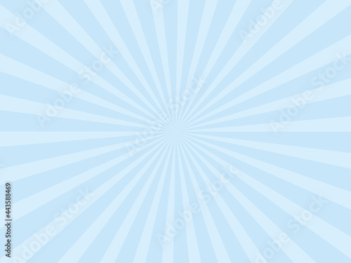 Fotografering 放射状の背景素材、イラスト(ブルーバージョン)