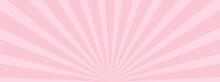 放射状の背景素材、イラスト(ピンク色バージョン)