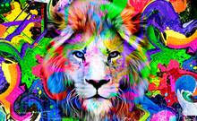Close Up Of A Lion