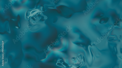 Fotografia Closeup of Abstract Smooth Chromatic fluid waves background