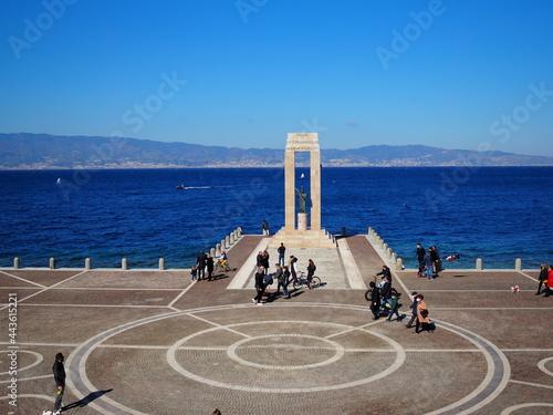 Fototapeta Reggio Calabria Lungomare Km più bello d'Italia - Via Marina - Mare Sicilia