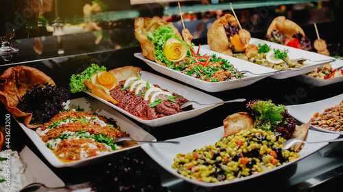 Tela Banquet meal trays served on tables