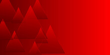 Abstract Red Triangle Background