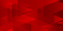 Modern Red Triangle Background, Geometry Background