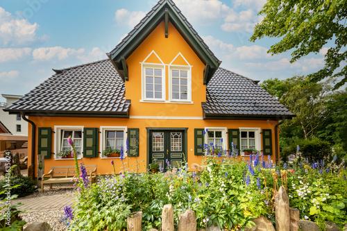 Canvastavla Historisches Fachwerkhaus an der Ostsee