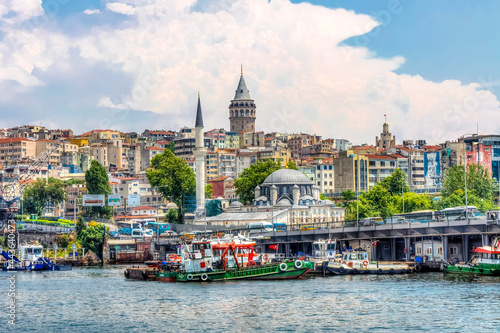 Karakoy view from sea in Istanbul. Istanbul is the biggest city of Turkey.