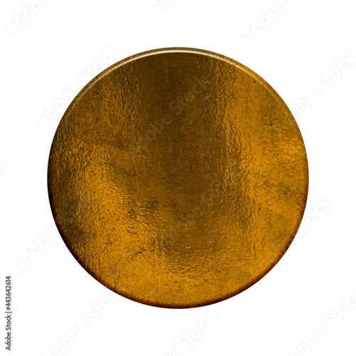 Fotografía Medaille oder Vorlage für Button mit glänzender goldener Farbe