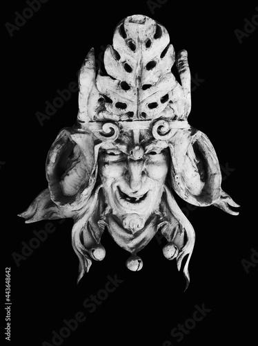 Fototapeta Monster face of aGreek antique god daimon of eager rivalry, envy, jealousy, and zeal Zelus (Zelos)