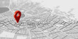 canvas print picture - GPS Standort Markierung als Navigation Ziel auf Stadtplan