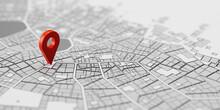 GPS Standort Markierung Als Navigation Ziel Auf Stadtplan