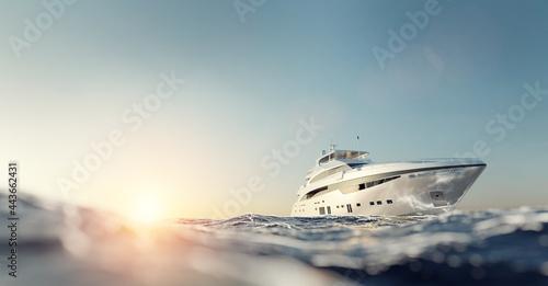 Luxury motor yacht on the ocean Fototapet
