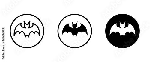 Tela bat icon vector, sign, symbol, logo, illustration, editable stroke, flat design