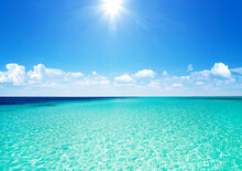 Beautiful Tropical Maldives Island With Beach.