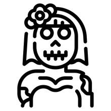 Ghost Bride Line Icon