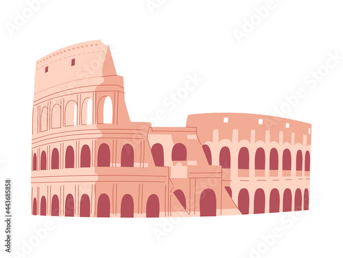 Fotografie, Obraz Coliseum in Rome. Italian sightseeing. Vector illustration.