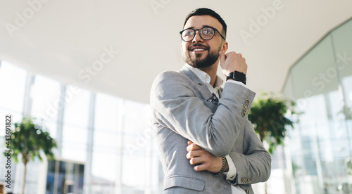Fotografie, Obraz Positive male executive manager standing in office