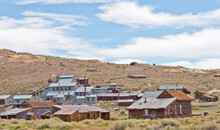 Stamping Mill And Abandoned Buildings In The Gold Mining Ghost Town Of Bodie, CA, U.SA.A.