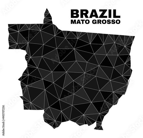 Fototapeta Low-poly Mato Grosso State map