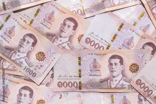 Fotografia, Obraz Baht banknotes background