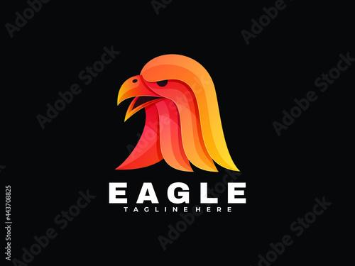 Fotografering Abstract Eagle Colorful Illustration Logo colorful Eagle amazing gradient logo c