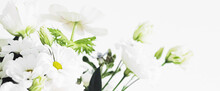 Bouquet Of Flowers In Vase And Home Decor Details, Luxury Interior Design Closeup