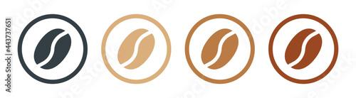 Fotografia Coffee bean icon set