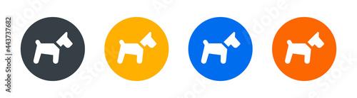 Fotografia, Obraz Dog, puppy, doggy and pooch icon sign.