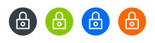 Locked Padlock Icon. Security, Secure, Lock, Private, Protection System Concept