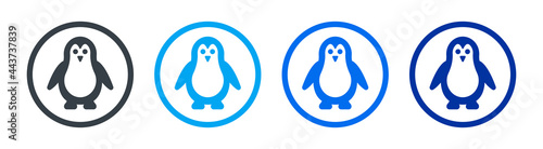 Canvastavla Penguin icon. Antarctic bird symbol vector illustration.