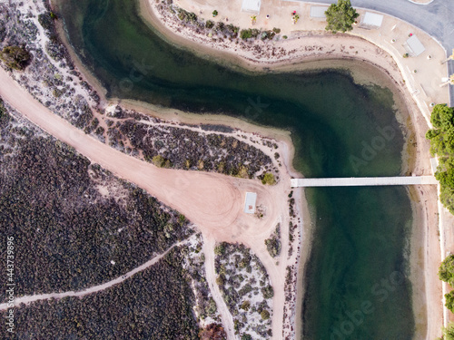 Canvastavla Birds eye view of Port Wakefield inlet, South Australia.