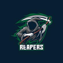 Reaper Logo Esport Template Horror Ghost Evil Dark Monster