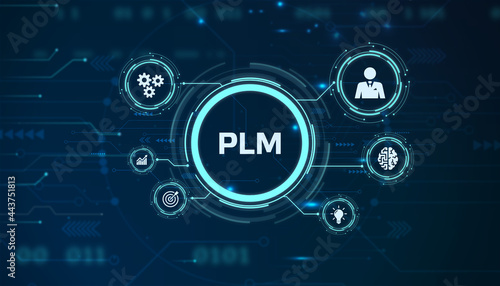 Stampa su Tela PLM Product lifecycle management system technology concept