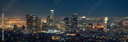 Leinwand Poster Los Angeles at night