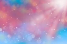 水中でキラキラ光輝く水滴と光又は宇宙の背景