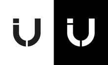 UI Logo Design On Luxury Background. IU Logo Monogram Initials Letter Concept.  UI Icon Logo Design. IU Elegant And Professional Letter Icon Design On Background. U I UI IU