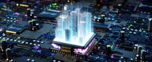 Smart City Concept. 3d Rendering