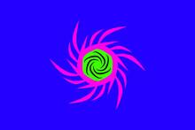 Sharp Spinner Logo On Blue Background