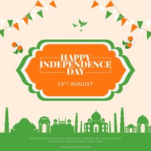 Creative Happy Indian Independence Day Banner Template.