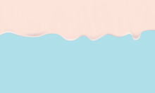 Vector Melted Milk Pink Summer Background