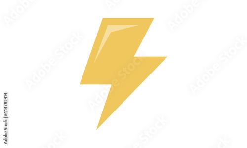 Fotografia Lightning bolt icon. Thunderbolt. Vector