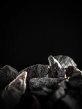 Easily Illuminated Black Background Stones