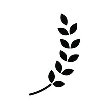 Farm Wheat Ears Icon Vector Template. Color Editable On White Background. Eps 10